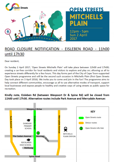 Example road closure letter to residents