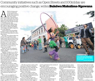Citizen-led Projects can Forge a Unified Cape Town. Cape Argus 4 June 2013