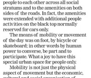 Transforming the City into a Place for People. Cape Times 29 May 2013