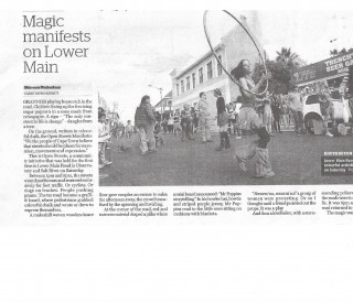 Magic Manifests on Lower Main. Cape Argus 27 May 2013