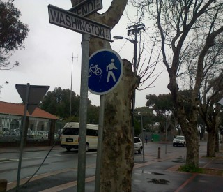 Cycling Pedestrian Sign