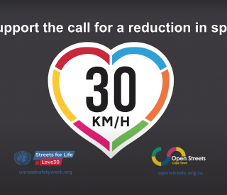 Support a reduction in vehicle speed to 30km/hr